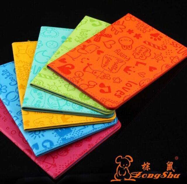 New cartoon Passport Holder Protector Cover Wallet PU Leather Cover  A149
