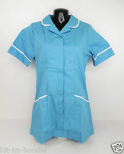 Boyd-Cooper-Celestial-Blue-Ladies-Nurse-Care-Assistant-Trim-Uniform-Tunic-E9-SN2
