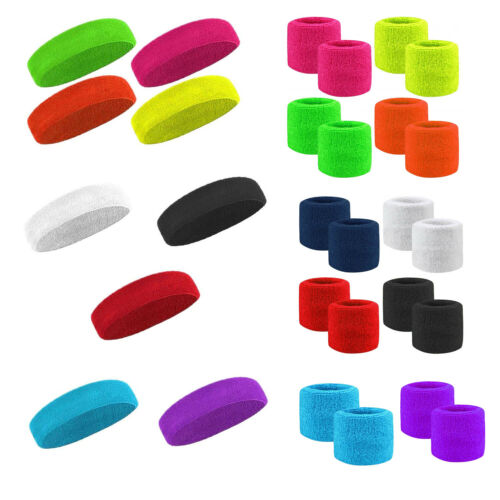NEW Headband Headband Sweatband Wrist Band Wristband Sports Fancy Party..