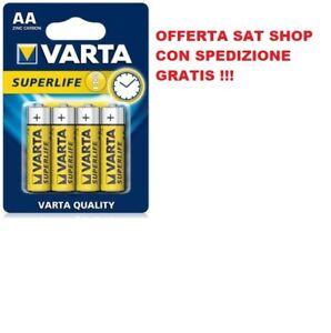4x Batterie Pile VARTA SUPERLIFE AA Stilo Radio Orologio Mouse Telecomando