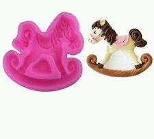 New Rocking Baby Horse Pony Silicone Mold Chocolate Fondant Cake Decorating UK