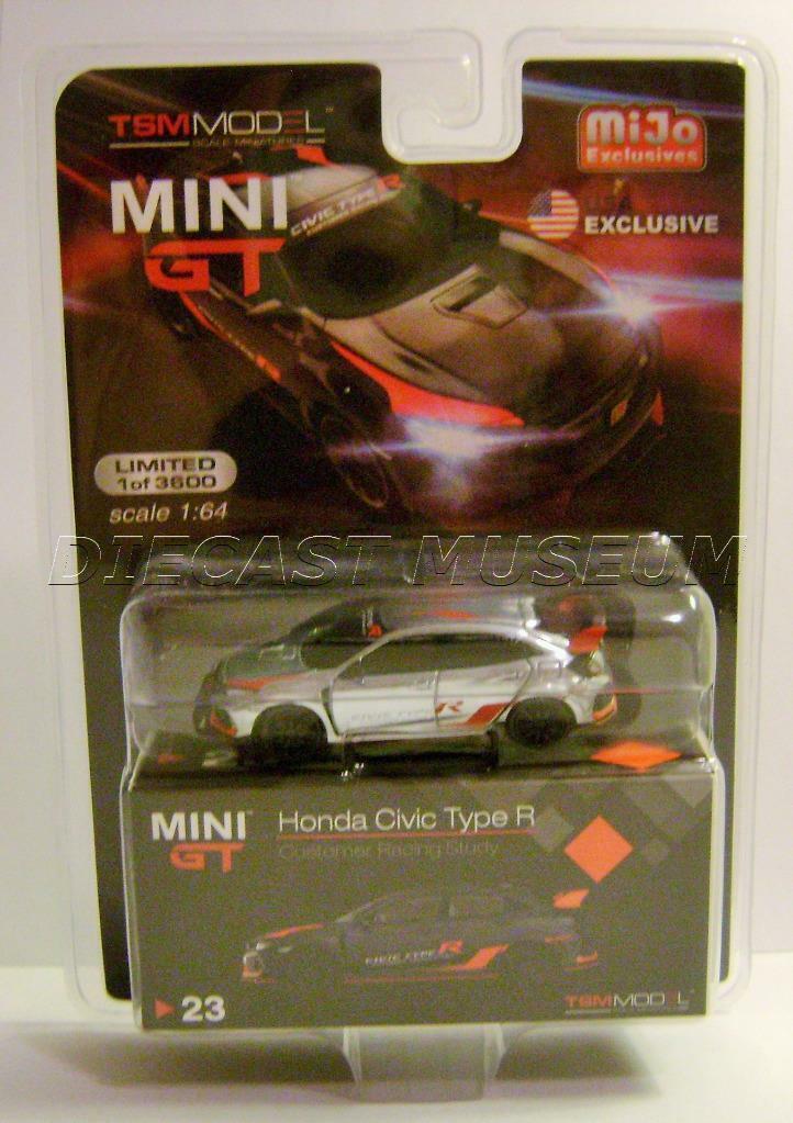 HONDA CIVIC TYPE R CUSTOMER RACING STUDY MIJO TSM MODEL MINI GT CHROME CHASE