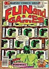 SPIDERMAN PROMO HULK FUN & GAMES 10 F CAPTAIN AMERICA RARE PROMOTIONAL