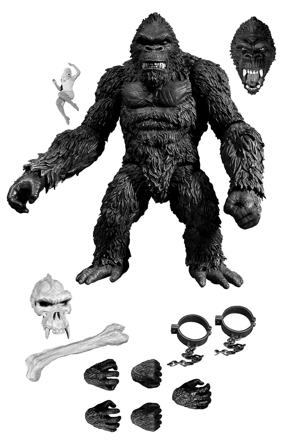 Mezco PX King Kong Of Skull Island Exclusive 7  Action Figure Ann Darrow Variant