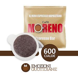600 Cialde Caffè Moreno Espresso Bar In Carta Ese 44mm