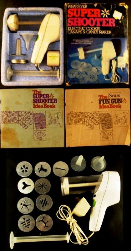 Wear-Ever Super Shooter Electric Cookie Candy & Canape Maker Sears Fun Gun Press