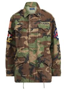 Us Militare Field Ralph Camo Tela Nuovo Lauren Polo Jacket Donna Bandiera dqOXxAYww8