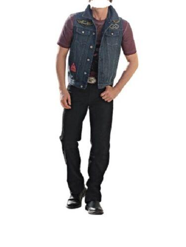 Pantaloni in Pelle PELLE Lederhose uomo Jeans pantaloni uomo rindnubuk NERO MIS 72