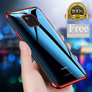 negozio online 48db4 46f1b Details about For Huawei P20 Pro Mate 20 Lite Case + Screen Protector  Hybrid Shockproof Cover