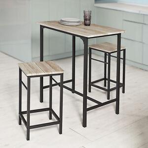 SoBuy Set 3 pezzi Tavolo con 2 sgabelli, Set di mobili da balcone ...