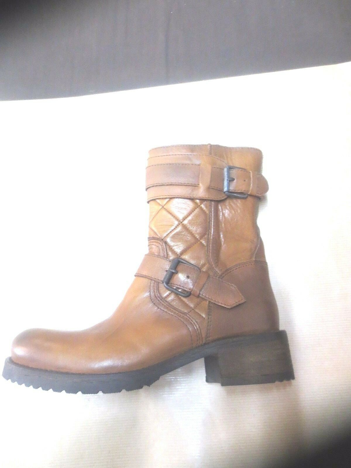Boots cafè black leather camel new value 155E Size 39