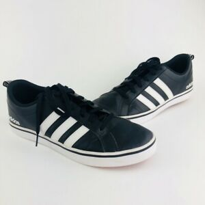 Men S Adidas Vs Pace Black White Red Bottom Sneakers Size 9 5