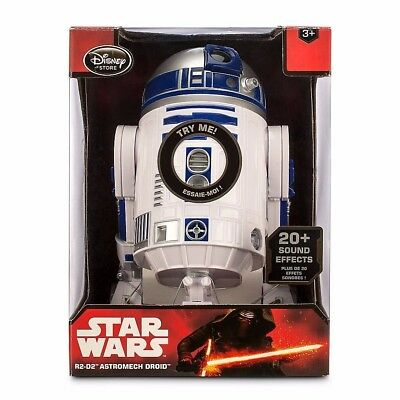 DISNEY STORE STAR WARS R2-D2 TALKING ASTROMECH DROID 10.5 inch NEW GLOBAL SHIP