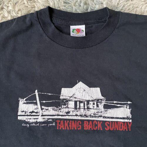 Taking Back Sunday Vintage Medium Black Shirt 00s
