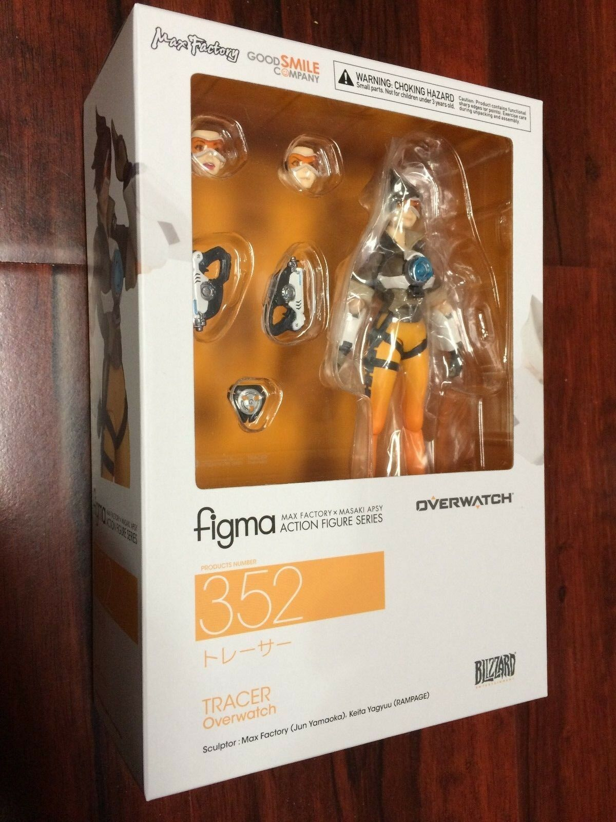 AUTHENTIC  Figma  352 Tracer Lena Oxton Blizzard Overwatch Good Smile Company