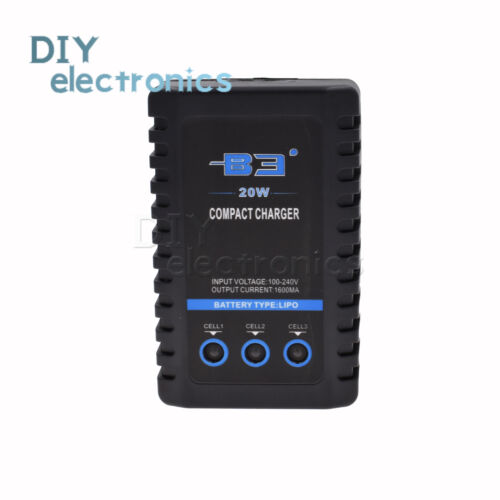 For E350 B3 7.4V 11.1V Lithium Pro Compact 2S 3S Lipo Balance Battery Charger US