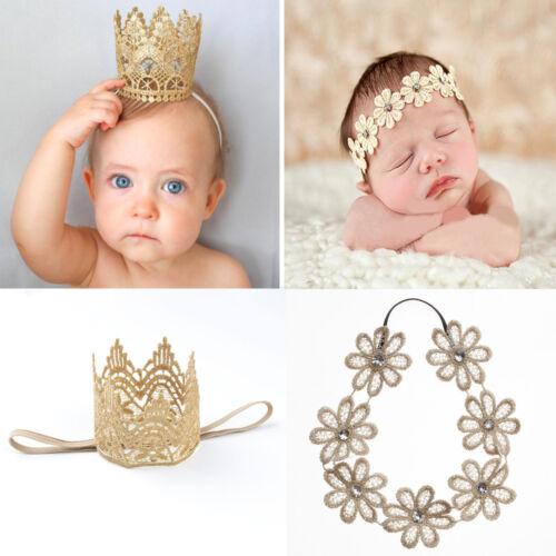 Newborn Baby Girls/' Toddler Cute Crown Flower Headband Hair Band Headwear Super