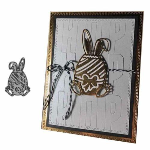 Hase Ei Metall Stencil Cutting Dies Scrapbooking Stanzschablone Album Karte DIY