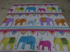 Decorative bright novelty elephant crafts remnant fabric material piece 95x95cm