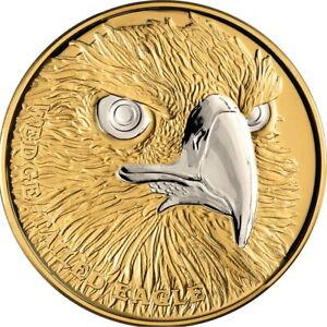 Niue-2019-Australia-Wedge-Tailed-Eagle-Wildlife-Up-Close-100-1-Oz-Gold-Proof
