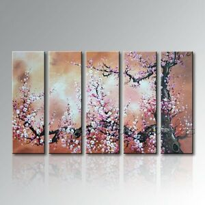 Blossom Abstract Oil Painting Framed Handmade Modern Canvas Wall Art