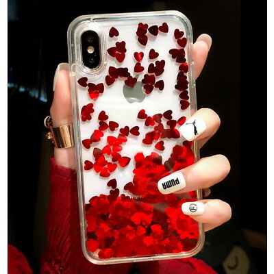 Cute Glitter Moving Quicksand Liquid Soft Case For iPhone XS Max X 6 7 8 Plus 6S