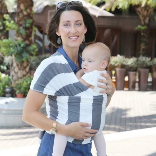 Stretch Cotton Baby Wrap Sling Carrier in Gender Neutral Colours Ideal baby gift