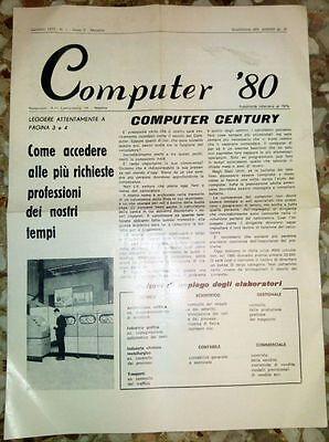 Attento Computer ' 80 Mensile Del Gennaio 1972 - Rarissimo Anno Ii N.1