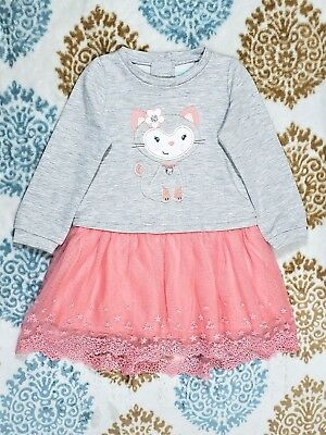 Nannette Baby Special Occasion Fancy Party Glitter Embroidered Tulle Dress 24 mo