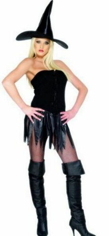 A Adult Female Ladies Womens Halloween Fancy Dress Costume Saucy Witch Large 16-