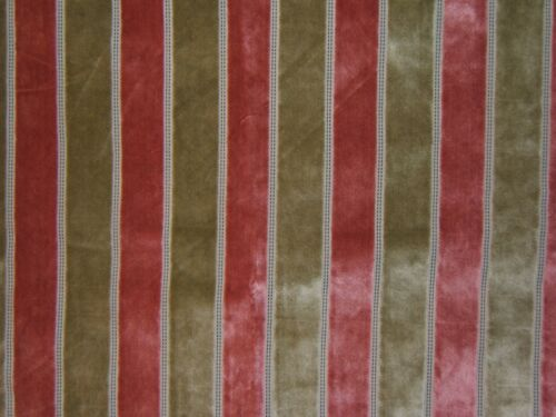 "Highland Court /""Hayley/"" velvet stripe various colors fabric remnants"