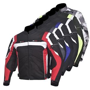 Men-039-s-Jacket-Motorcycle-Motorbike-Waterproof-Textile-Cordura-With-CE-Armoured