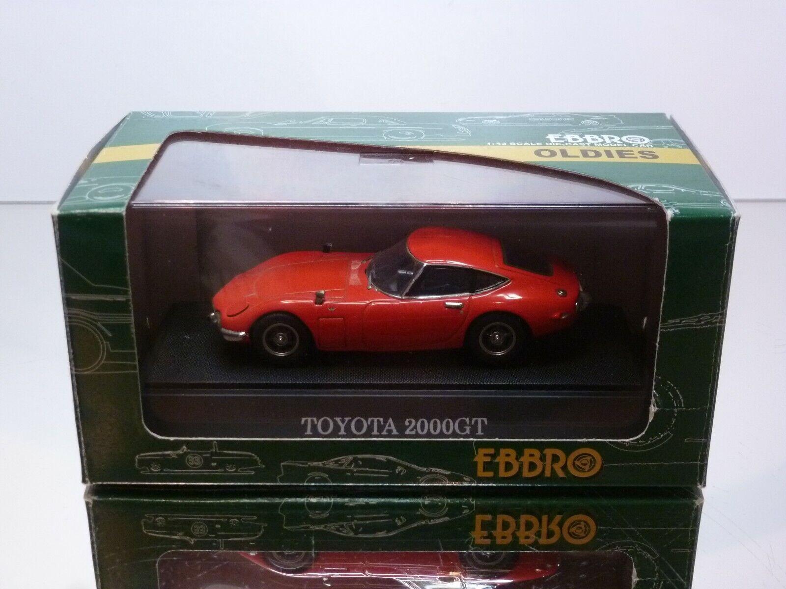 EBBRO  105 TOYOTA 2000 GT - rojo  1 43  - EXCELLENT IN BOX