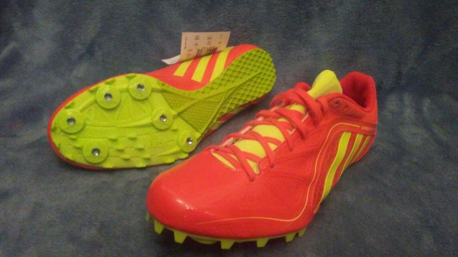 NIB ADIDAS SPRINTSTAR 3 Track and Field Cleats-Shoes Orange-Yellow Men Size 11.5