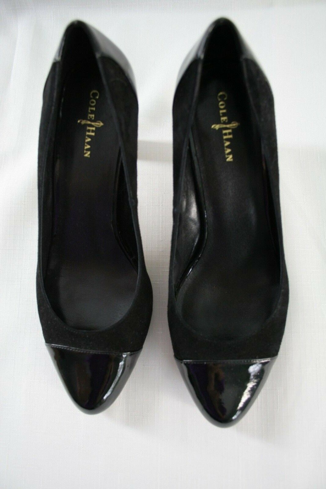 Womens Cole Haan Black Pumps Patent Leather Leather Leather & Suede  Sz 8 B Margot CT D38565 Sho 63d3a5