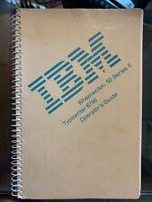 Vintage Ibm Wheelwriter 50 Series Ii Typewriter 6788 Operators Guide Manual 1988