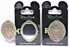 Disney Fairest One Of All Snow White Evil Queen Locket Mirror Hinged Pin NEW