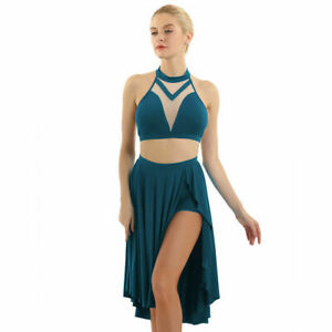 Women-Sexy-Dance-Outfits-Halter-Neck-Dancewear-Pub-Club-Party-Wear-Summer-Suits