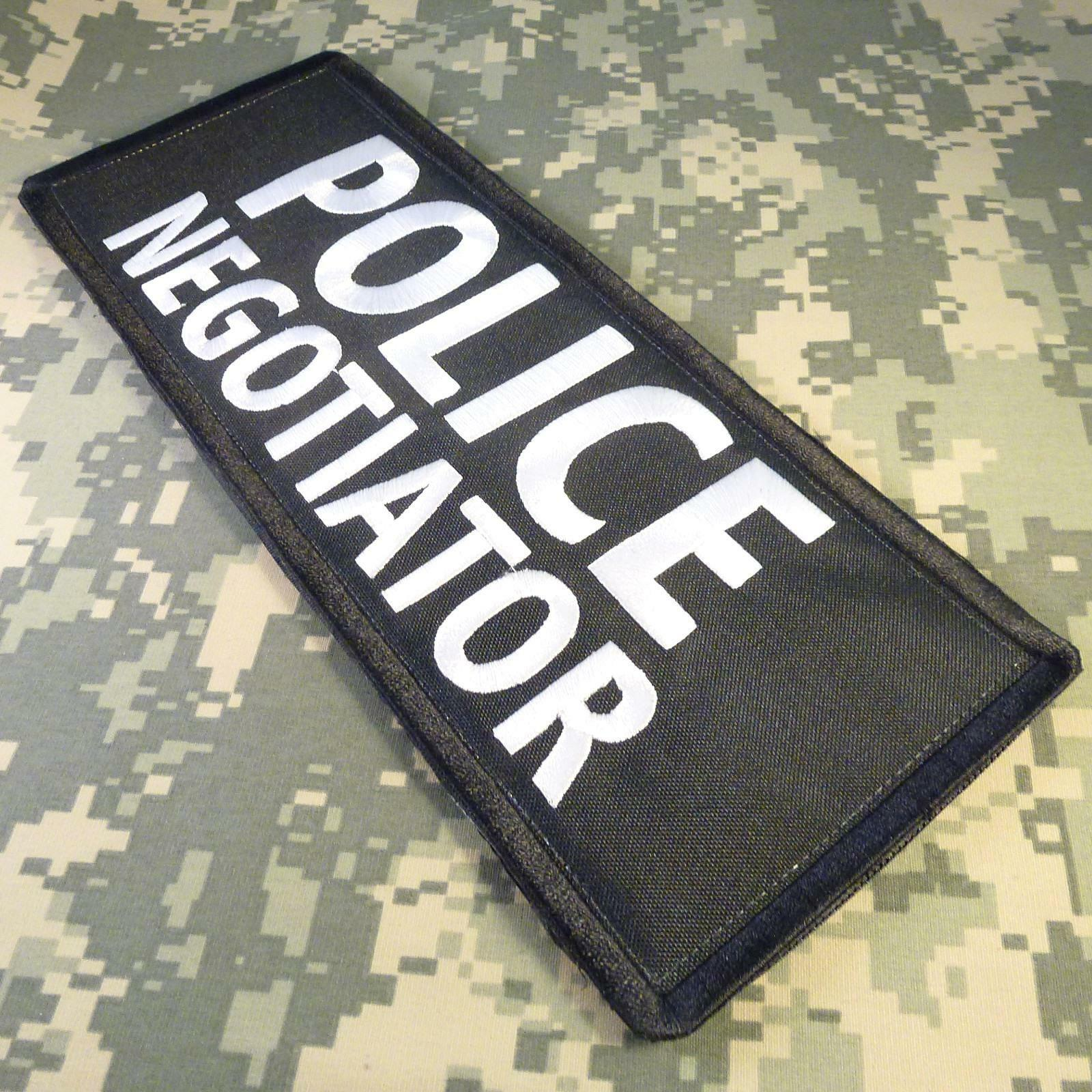 2AFTER1 Security Enforcement Officer Large XL 10x4 Inch Body Armor Tactical Embroidered Fastener Patch