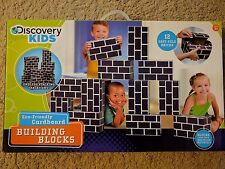 Blue Discovery Kids Eco-Friendly Cardboard Building Blocks
