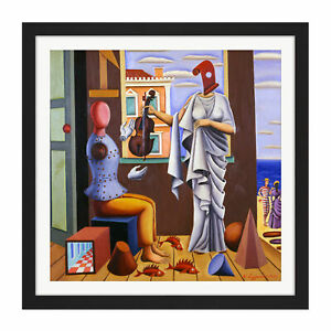 Nikos-Engonopoulos-Poet-And-Muse-Square-Framed-Wall-Art-16X16-In