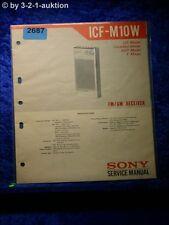 Sony Service Manual ICF M10W (#2687)