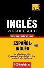 Vocabulario Español-Inglés Británico - 9000 Palabras Más Usadas by Andrey...