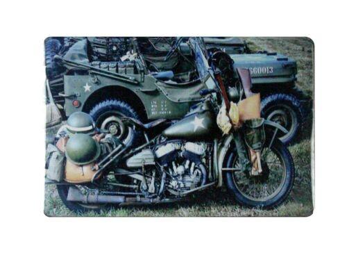 US vendeur mur affiches militaire moto Étain Métal Signe