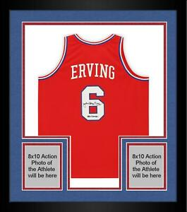 "Frmd Julius Erving 76ers Signed Red 1982-83 Swingman Jersey & ""83 Champs"" Insc"