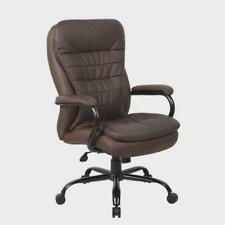 Executive Chair 31 In D X 31 In W X 47 In H Swivel Metalfaux Leather Brown