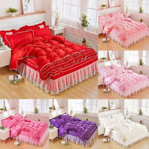 Princesa de encaje falda de cama cómoda Suave Colcha Ropa De