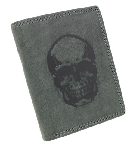 Herren Vintage Leder Geldbörse Geldbeutel Portemonnaie Börse Hochformat RFID