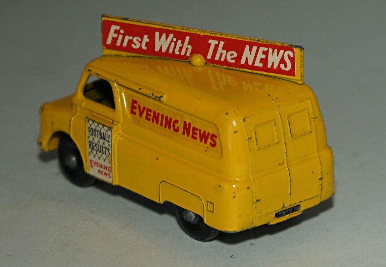 Matchbox Lesney No 42 Yellow Yellow Yellow Bedford Evening News Van - BPW (45) - Excellent 7a7d7f