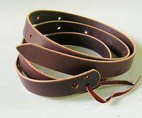 7.5 to 8-foot Amish Made Latigo, Genuine Leather Cinch Strap, MEDIUM OIL BROWN